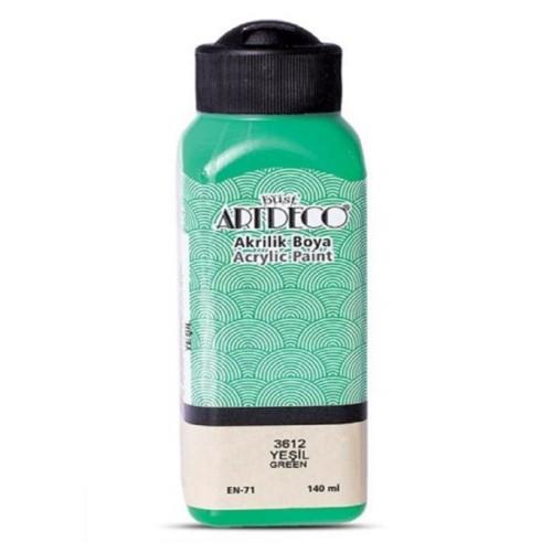 Artdeco Y-070R-3612 Akrilik Boya 140 Ml Yeşil