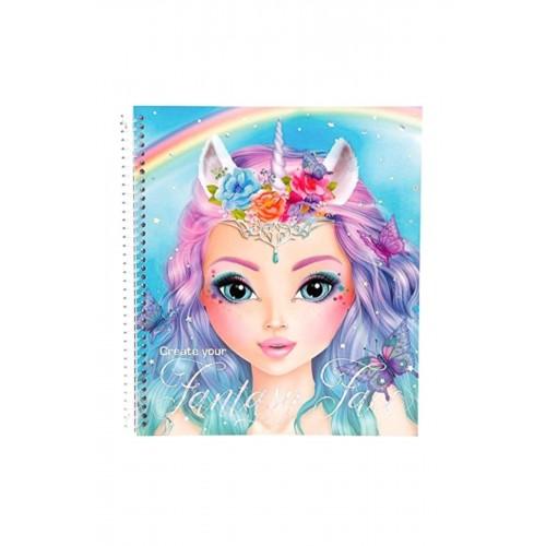 Top Model Fantasy Yüz Boyama Kitabı