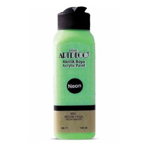 Artdeco Y-070R-950 Akrilik Boya 140 Ml Neon Yeşil