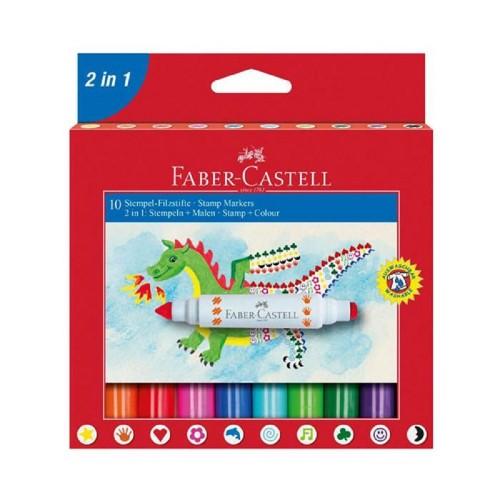 Faber Castell 155170 2İn1 Jumbo Keçeli Kalem 10Lu