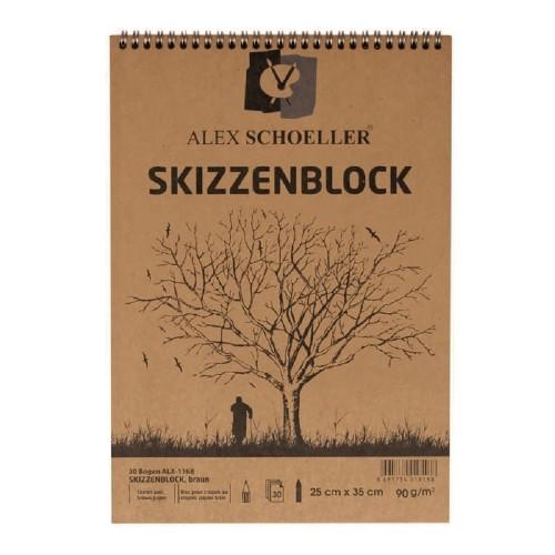 Alex Schoeller Kraft Resim Blok Spiral 25X35 30 Yp