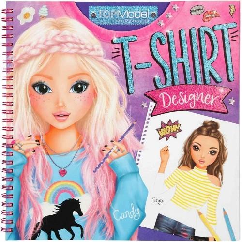 Top Model T-Shirt Designer Coloring Book