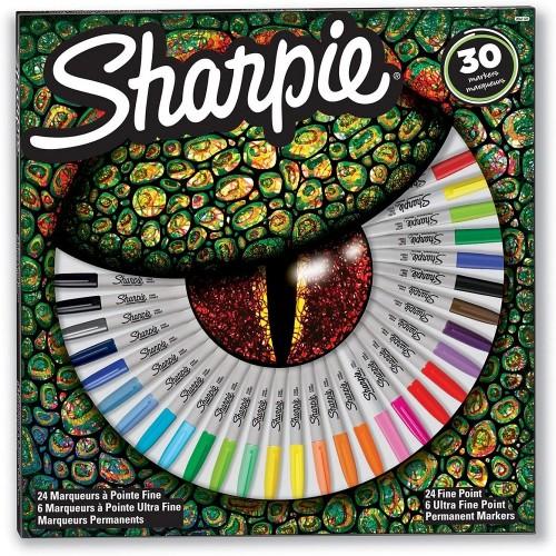 Sharpie 2061127 Fine Permanent Mark 30Lu Karışık