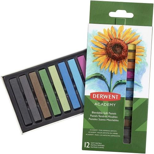 Derwent 2302397 Academy Soft Pastel 12 Renk