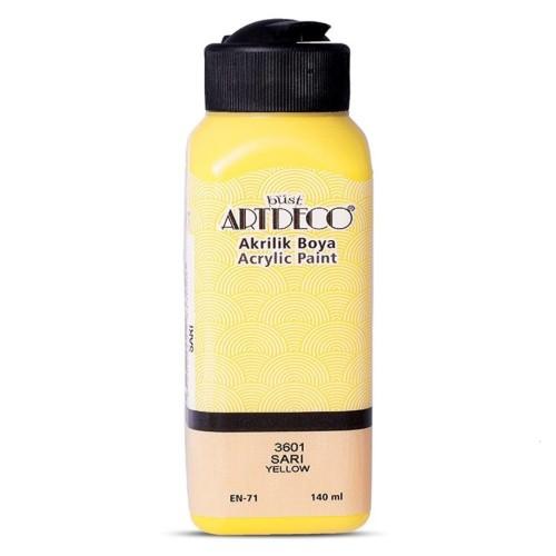 Artdeco Y-070R-3601 Akrilik Boya 140 Ml Sarı