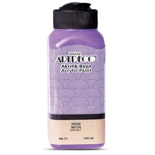 Artdeco Y-070R-3608 Akrilik Boya 140 Ml Mor