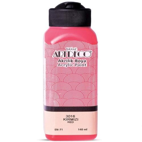 Artdeco Y-070R-3016 Akrilik Boya 140 Ml Kırmızı