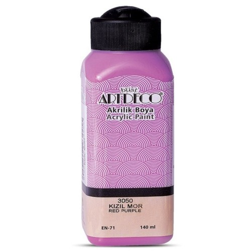 Artdeco Y-070R-3050 Akrilik Boya 140 Ml Kızıl Mor