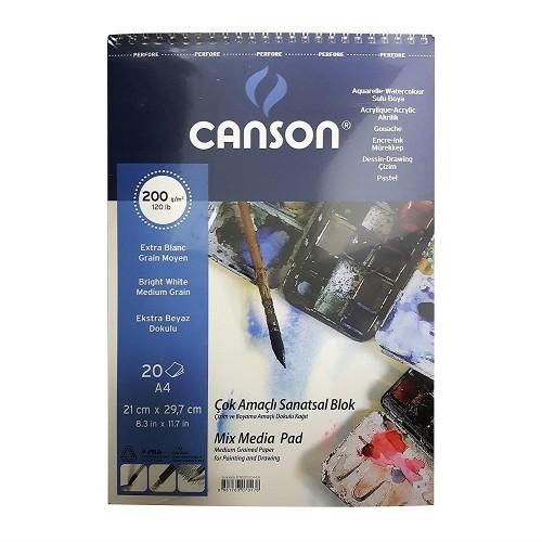 Canson 2020A4US A/4 Çok Amaçlı Resim Blok 200 Gr