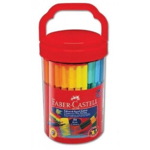 Faber Castell 111550 Eğlenceli Keçeli Kalem 50 Li
