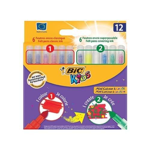 Bic 892221 Mini Colour&Create 12 Renk