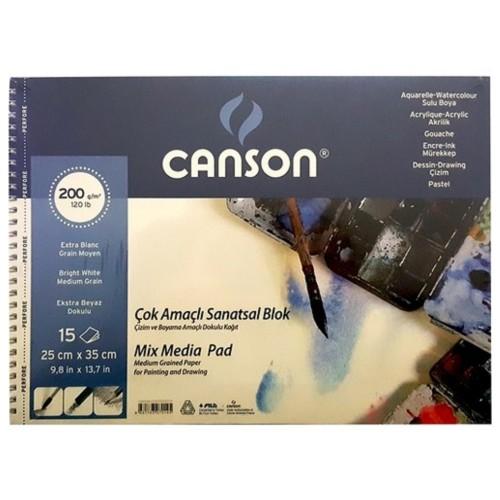 Canson 200152535 Resim Blok 25X35 200Gr 15 Yaprak