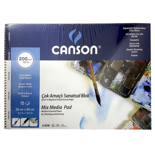 Canson 20013550 Resim Blok 35X50 200 Gr 15 Yaprak