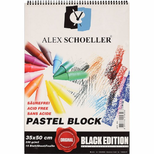 Alex Schoeller 35*50 Siyah Pastel Fon Blok 220 Gr