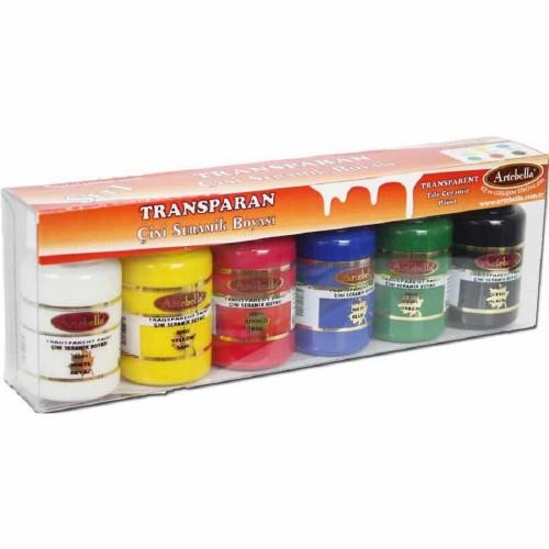 Artabella Transparan Seramik Boyası 6Lı Set
