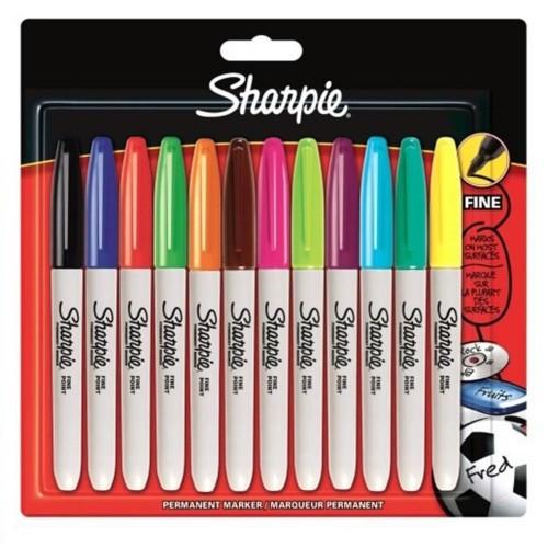 Sharpie 2065404 Fine Per.Markör 12 Li Bls.