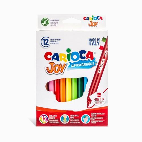 Carioca 40614 Joy Süper Keçeli Yıkanabilir 12 Renk