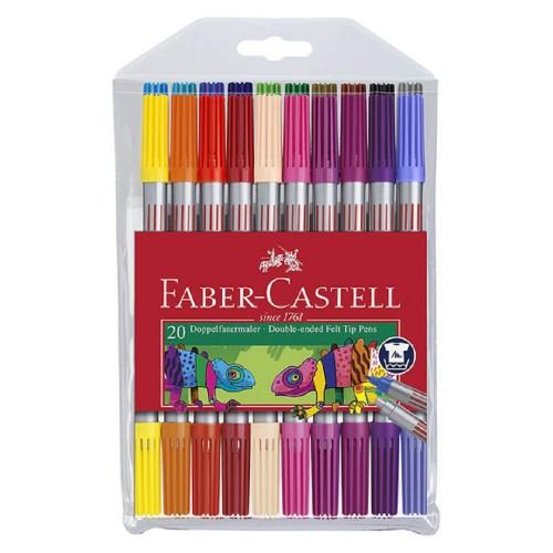 Faber CastellÇift Taraflı Keçeli Kalem 20 Renk