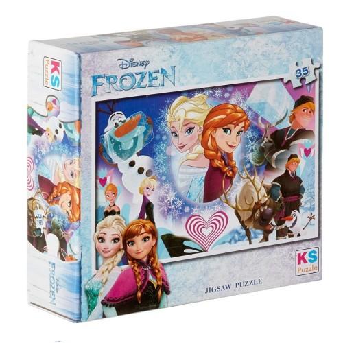 Onur 35 Parça Puzzle Lisanslı Frozen