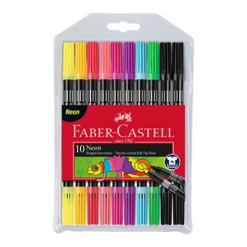 Faber CastellKeçeli Kalem Çift Taraflı Neon 10 Ren