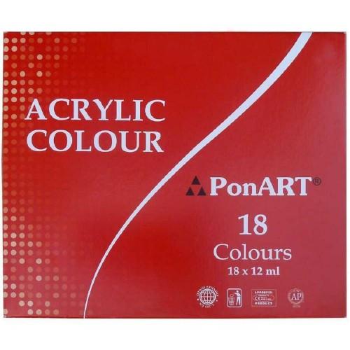 Ponart A1218 Akrilik Boya 18 Renk
