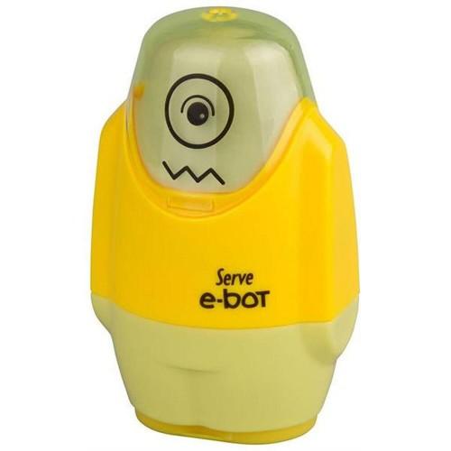 Serve E-Bot Silgili Kalemtraş Sarı