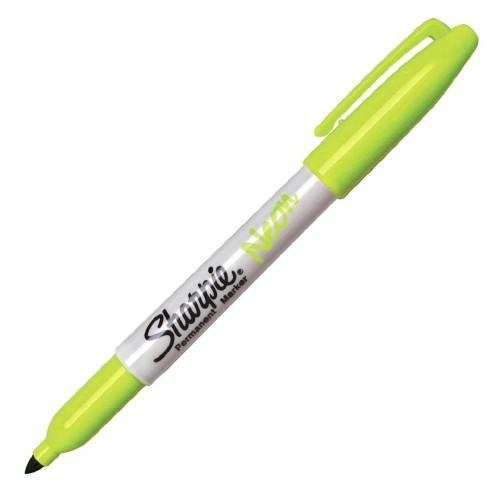Sharpie 1881134 Fine Permanet Markör Yeşil Neon